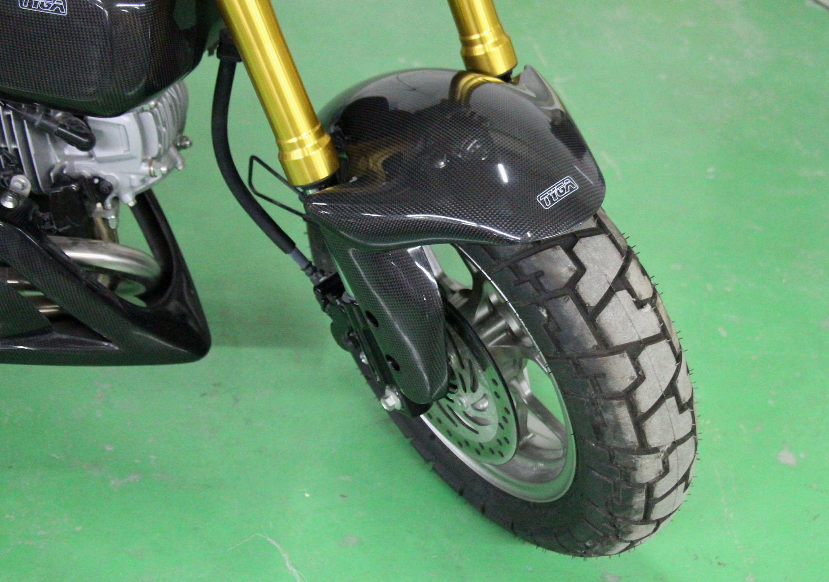 Front Fender Carbon Hugger Type Monkey 125 Msx125 Grom Jap4performance Tyga U K